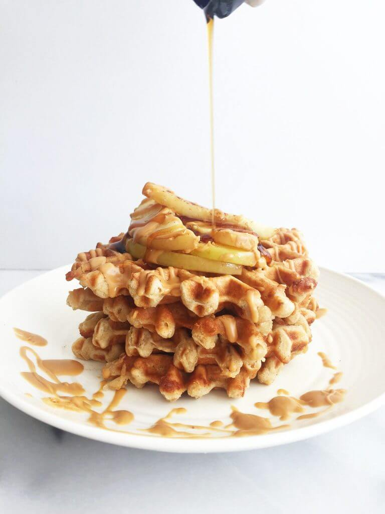 Flourless Apple Cinnamon Waffles