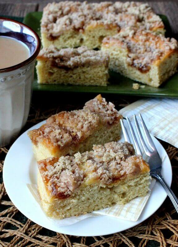 Coffee Cake with Apple Cinnamon Streusel
