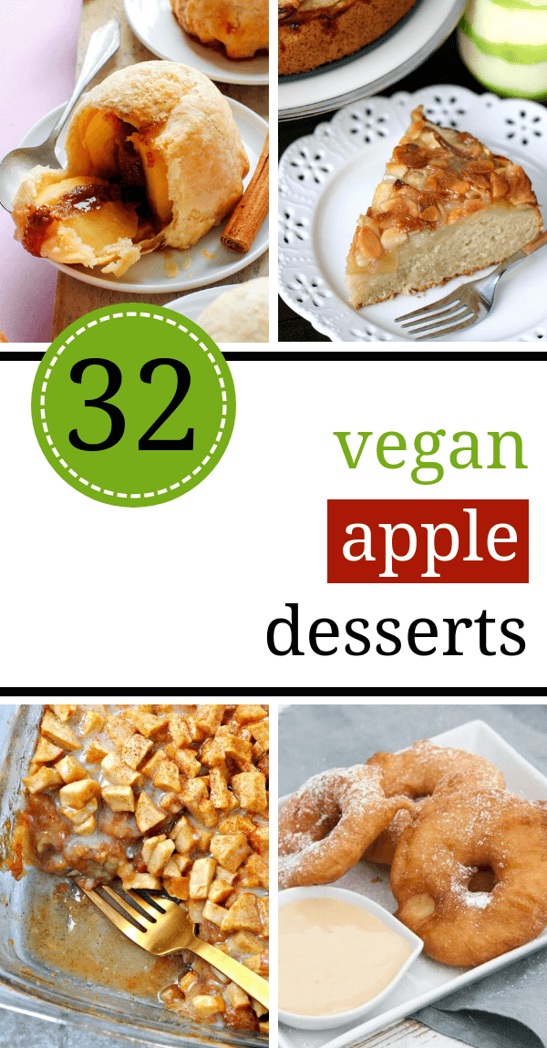 These easy Vegan Apple Dessert Recipes are super cozy! Imagine eating these sweet treats with a cup of hot tea on a chilly Fall evening, under a blanket...it's like Heaven! | The Green Loot #vegan #veganrecipes #dairyfree #eggfree