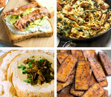 "Vegan Bacon Recipes, you say? Yep! These delicious, veganized ""meals"" are salty, smoky and everything that bacon should be! Except made of animals, of course. 