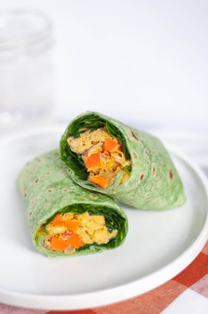 Curry Chickpea Wraps