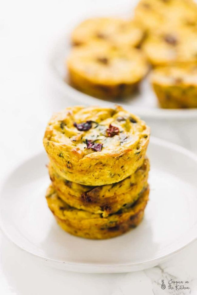 Quiche Muffins with Sun-dried Tomatoes