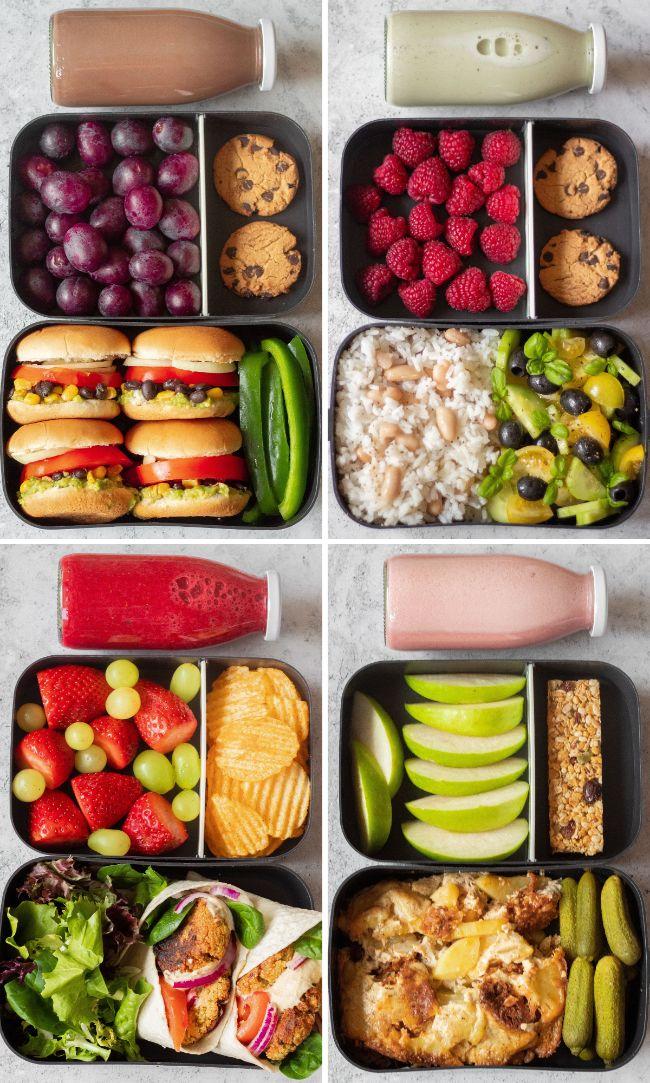 vegan meal prep recipes - bento lunch box