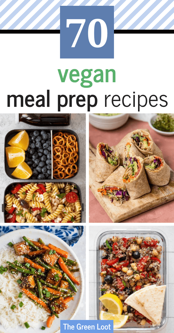 Easy & Quick Vegan Meal Prep Recipes that you can make for the whole week. They are healthy and delicious, yet you don't have to be in kitchen for hours, making them. Win win. Forget delivery and make these yummy meals instead! | The Green Loot