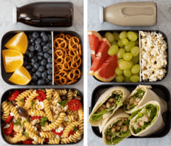 Tasty, No-Heat Vegan School Lunch Ideas For College that will up your meal prep game in no time! These meals are easy to make and healthy too! | The Green Loot #vegan #veganrecipes #mealprep #healthyeating #healthyrecipes