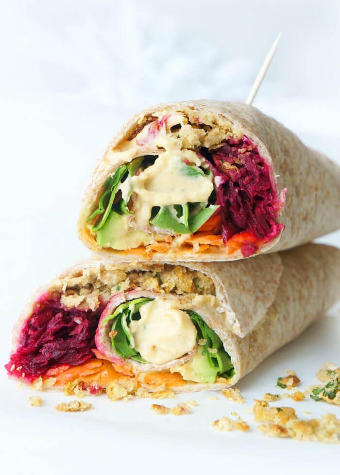 Rainbow Falafel Wrap
