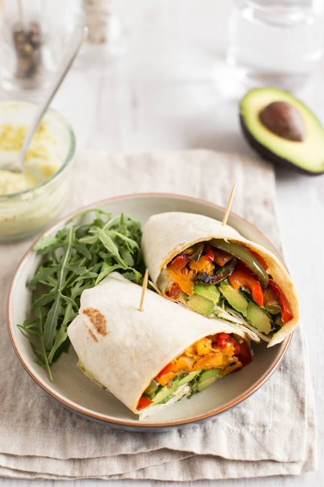 Avocado Sweet Potato Wrap