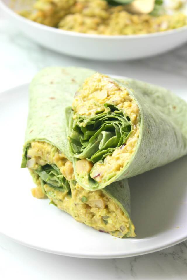 Smashed Chickpea Salad Wrap