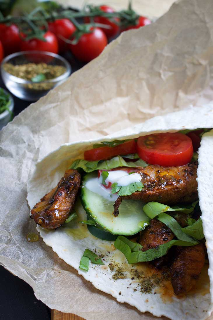 Shawarma with Grilled Portobellos