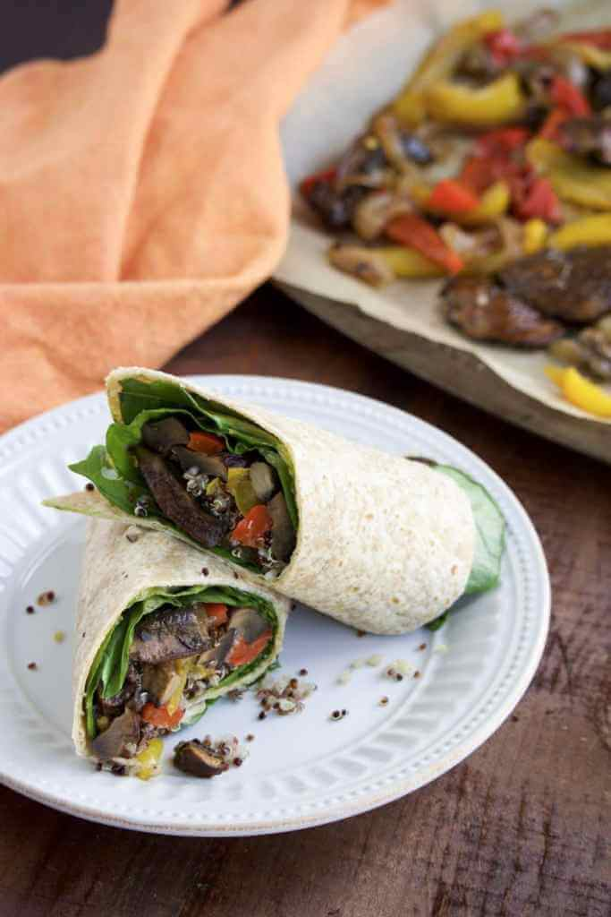 Balsamic Portobello Mushroom and Quinoa Wrap