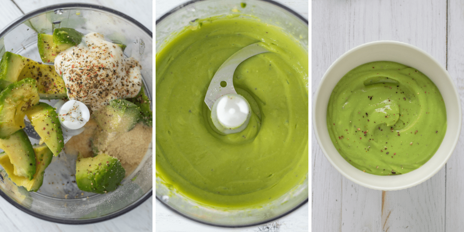 Avocado Pasta Sauce making - step by step