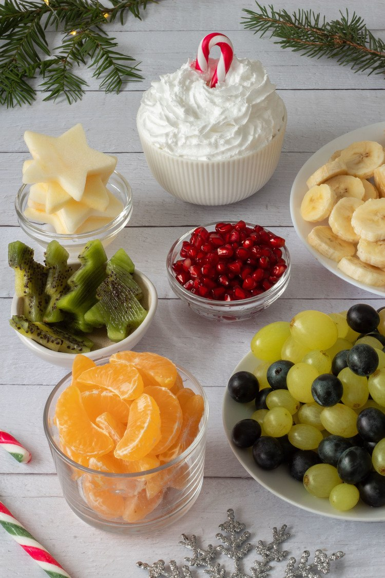 Christmas Fruit Salad Cups