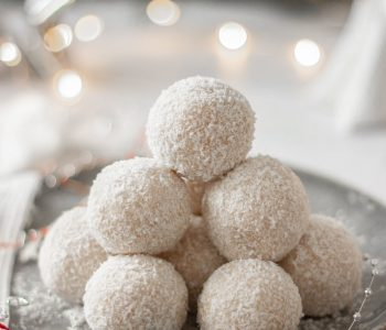 Vegan Coconut and Rum Snowballs