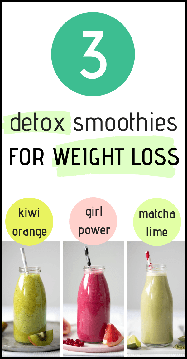 These vegan Detox Smoothies are great for Weight Loss and flushing your body of toxins and all nastiness. Drink 1 or 2 glasses for 3 days and feel amazing! | The Green Loot #vegan #veganrecipes #detox #weightloss #cleaneating