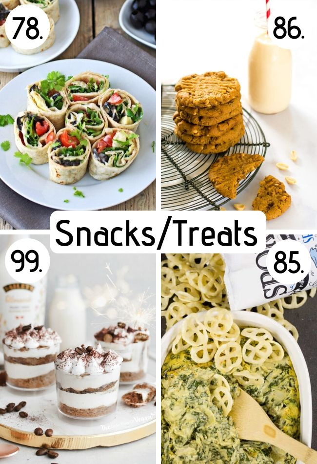 vegan snacks and dessert recipes