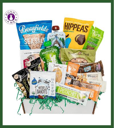 Healthy Vegan Snacks Care Package (Amazon) - Vegan Christmas Stocking Stuffer Ideas