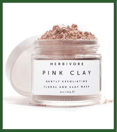 All Natural Pink Clay Exfoliating Facial Mask (Amazon) - Vegan Christmas Stocking Stuffer Ideas