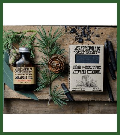 Cedar & Eucalyptus Beard Care Kit (Etsy) - Vegan Christmas Stocking Stuffer Ideas
