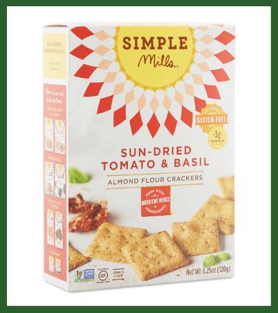 Sundried Tomato & Basil Almond Flour Crackers (Thrive Market) - Vegan Christmas Stocking Stuffer Ideas