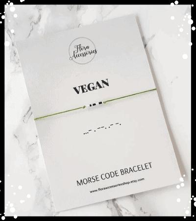 'Vegan' Morse Code Bracelet