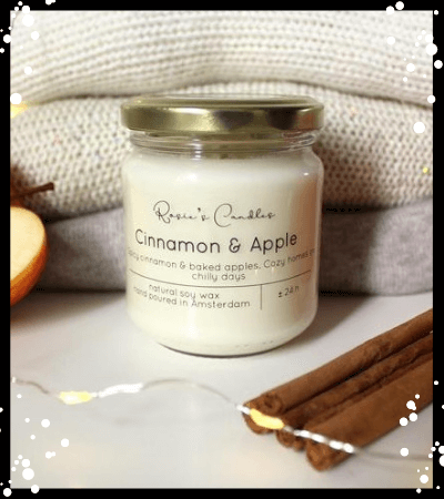 Cinnamon & Apple Scented Candle