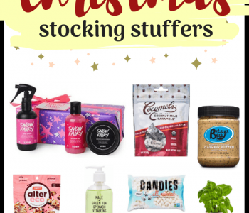 Looking for Vegan Christmas Stocking Stuffers and Gift Ideas? I've got you covered with these 21 super fun and jolly snacks, beauty items and other goodness! Not just for vegans! | The Green Loot #vegan #veganChristmas #Christmas #giftideas
