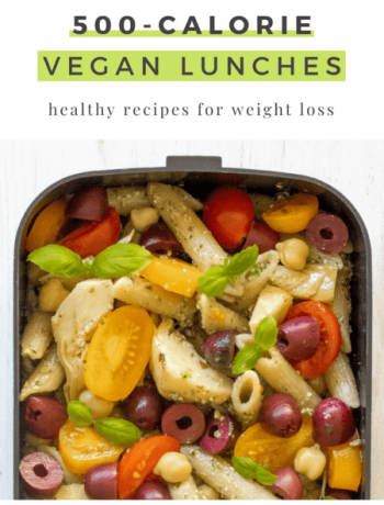 These 500-calorie Vegan Lunches are great for a weight loss meal prep routine. Easy and tasty meals that will fill you up until dinner. | The Green Loot #vegan #veganrecipes #dairyfree #meatlessmonday #weightloss