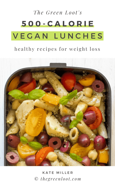 These 500-calorie Vegan Lunches are great for a weight loss meal prep routine. Easy and tasty meals that will fill you up until dinner. | The Green Loot #vegan #veganrecipes #weightloss #mealprep