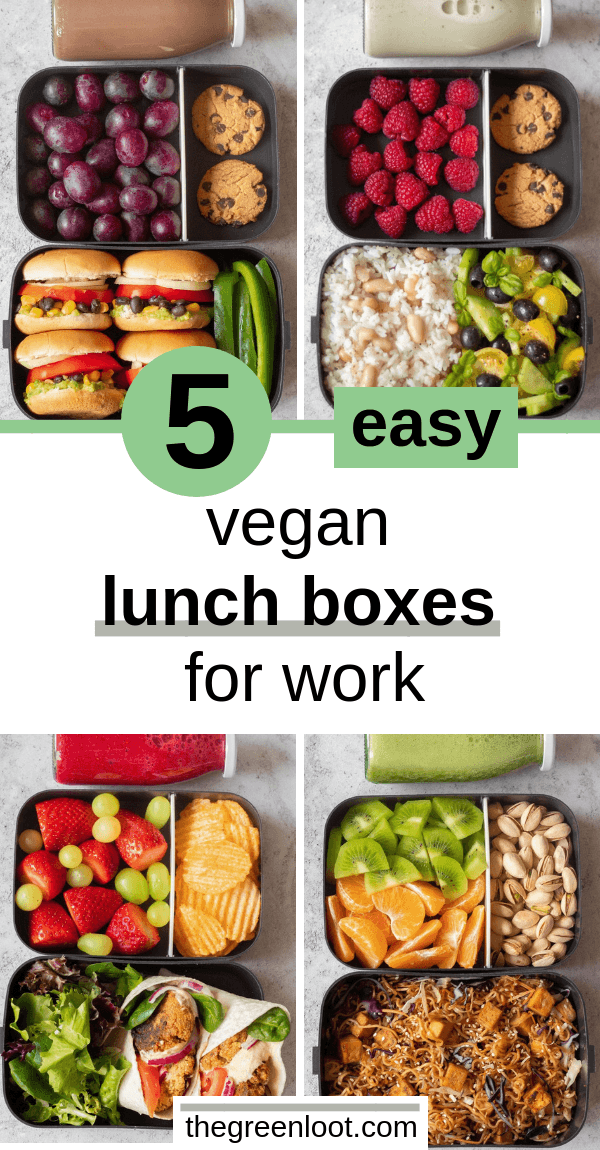 5 Easy Vegan Lunch Box Ideas for Work (Adult Bento)