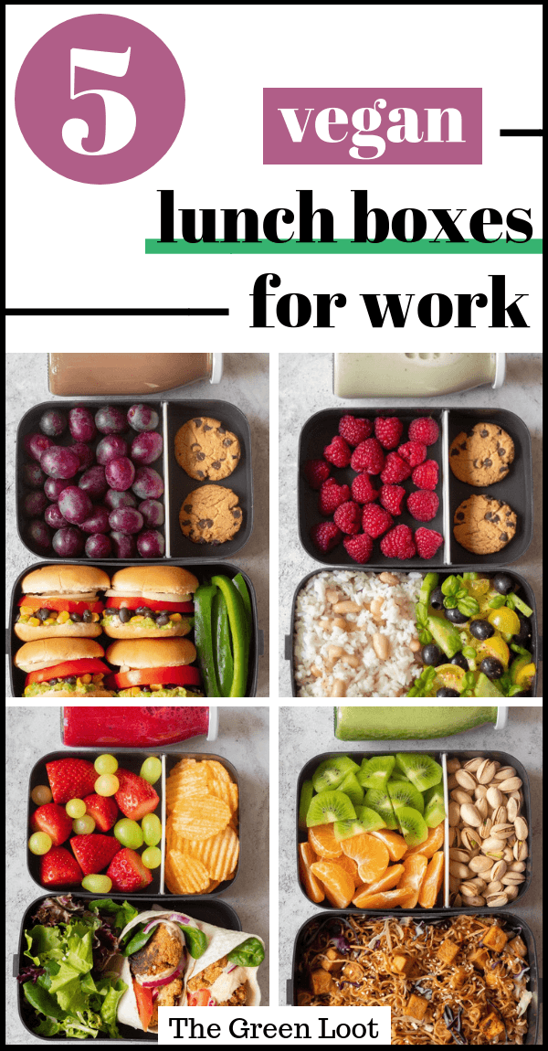 5 Easy Vegan Lunch Box Ideas For Work Meal Prep (Adult