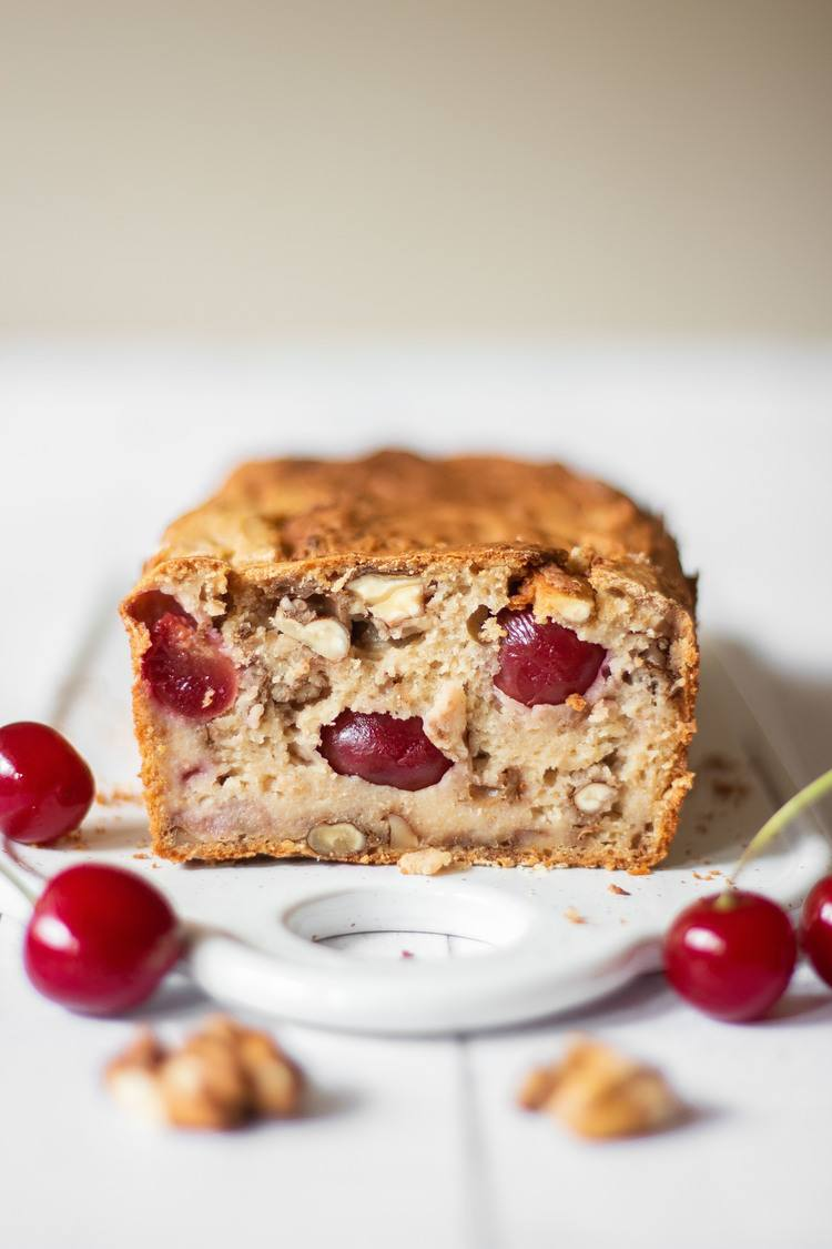 cherry and walnut bread front