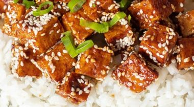 garlic teriyaki tofu