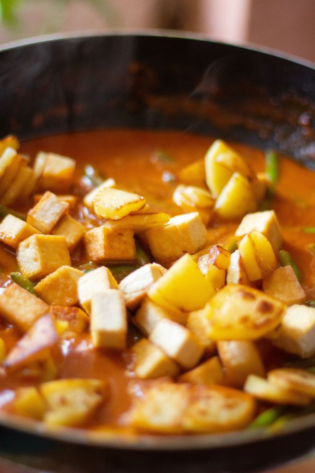 vegan green bean curry