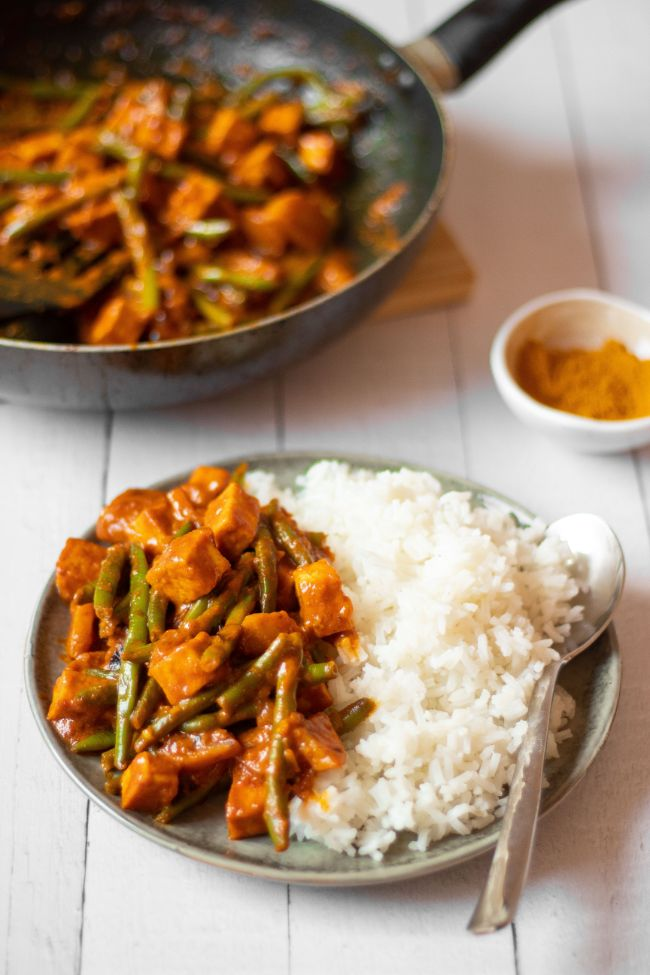 Easy Vegan Green Bean Curry