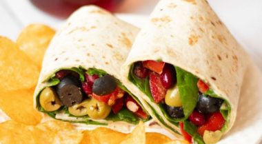 easy vegan lunch wrap
