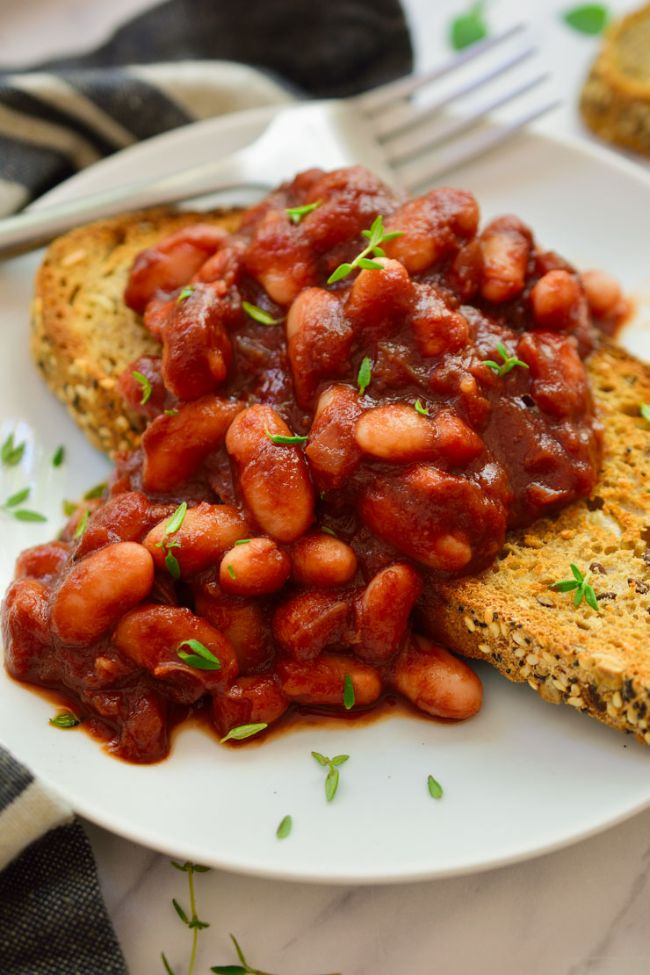 Smoky Beans on Toast