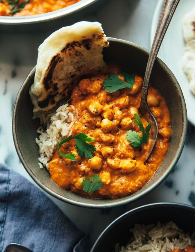 Spiced Butter Chickpeas