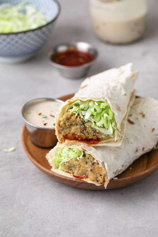 Spicy Quinoa Lentil Wraps