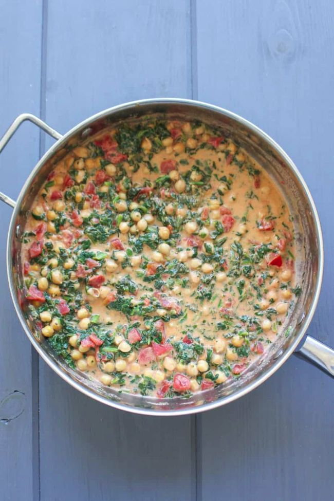 Coconut Chickpeas with Tomatoes