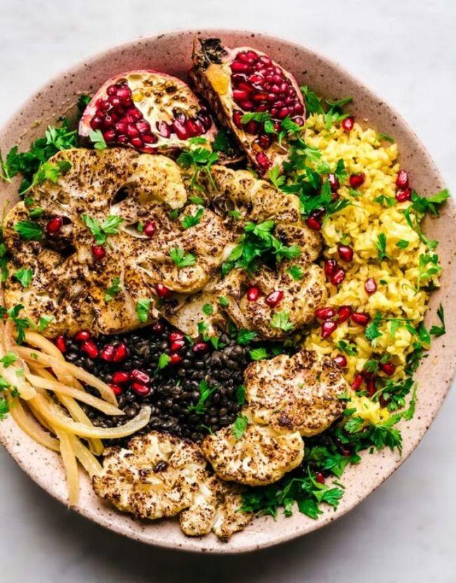 Moroccan Roasted Cauliflower Steaks