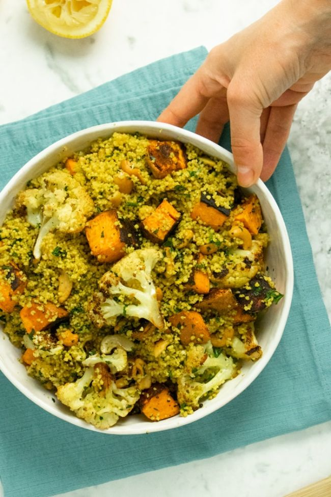 Basil Curried Couscous Salad