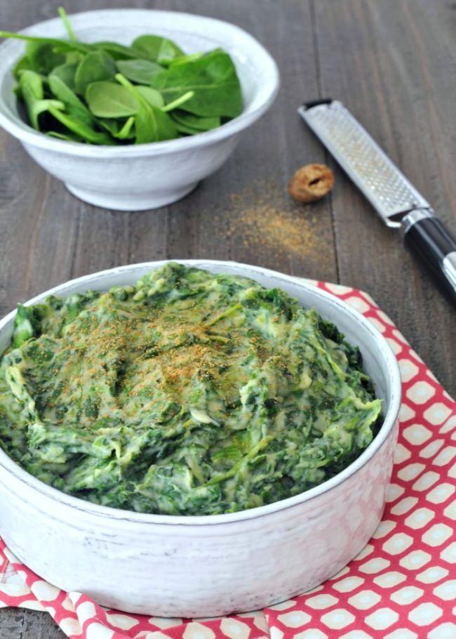 Cauliflower Creamed Spinach