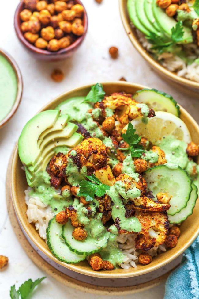 Cauliflower Shawarma Bowls