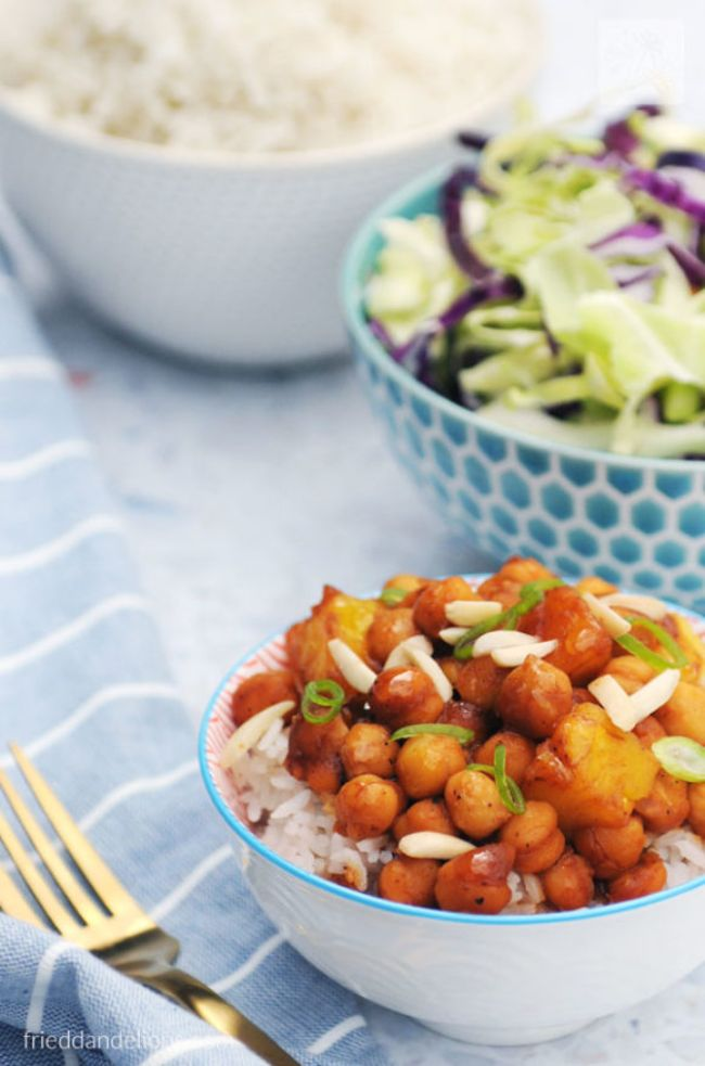 Chickpea Stir-fry with Pineapple