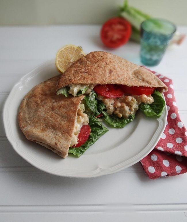 Toasted Chickpea Sea-Salad Sandwich