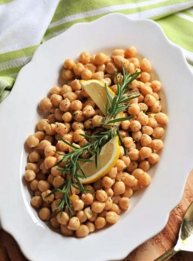Rosemary Lemon Chickpeas from Scratch