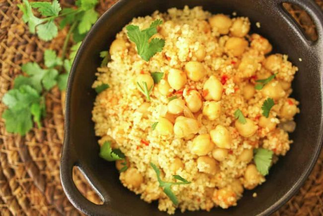 Harissa Couscous and Chickpeas
