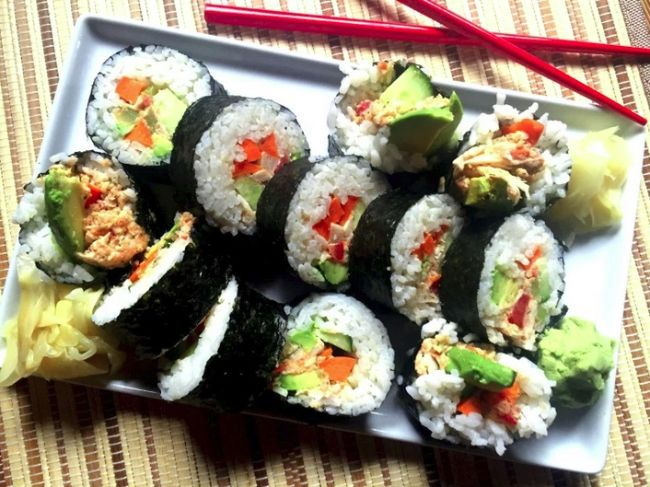 """Crab"" California Rolls"