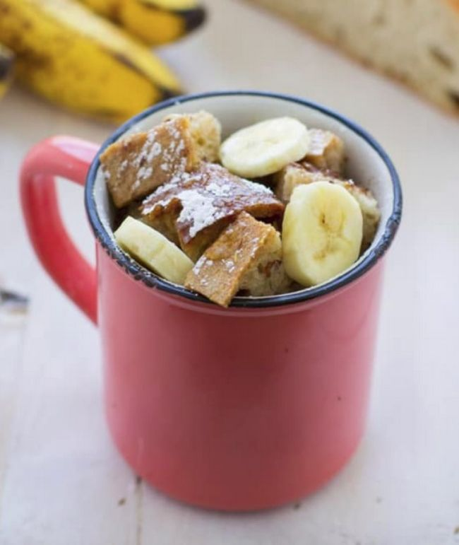 Banana French Toast in a Mug