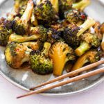 Roasted Broccoli with Sweet Chili Sauce